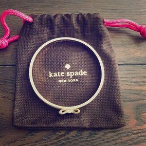 Kate Spade White bow bangle